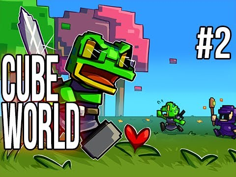 Cube World (Alpha) | Ep.2 | SlyFrog Vs The WOOOOOORRLD!