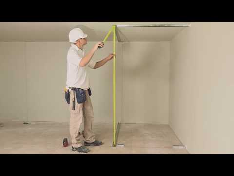 How to install a stud wall with insulation and access access panels