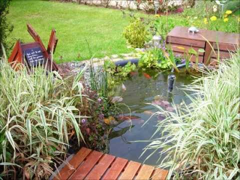 Mon bassin de jardin pr form poissons rouges am nagement d co plantes youtube for Bassin de jardin villaverde