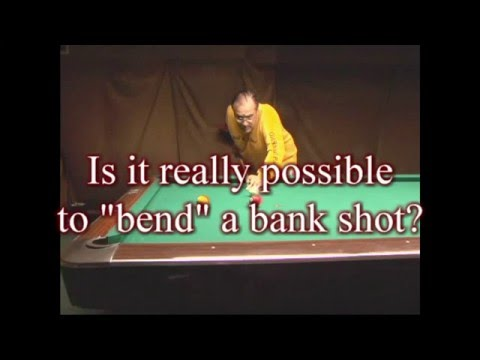 Pool Myth Buster - Bending Bank Shots