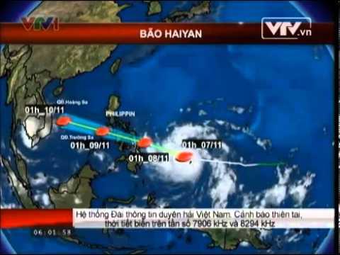 Tin mới nhất bão số 14 năm 2013: Bão HAIYAN cấp 17 vào