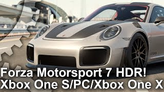 Forza Motorsport 7 - 4K HDR Xbox One X/ PC/ Xbox One S Comparison