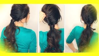 ★ SCHOOL HAIRSTYLE TUTORIAL HALF FRENCH FISHTAIL BRAID