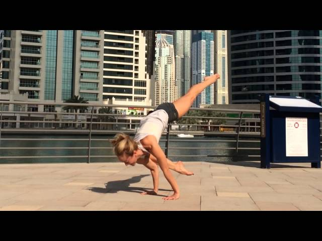 Yoga Arm Balance, Eka Pada Bakasana with Kino in Dubai