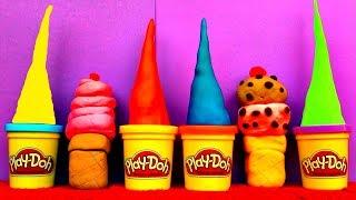 Ice Cream Play Dough Egg Surprise Peppa Pig Spongebob LPS