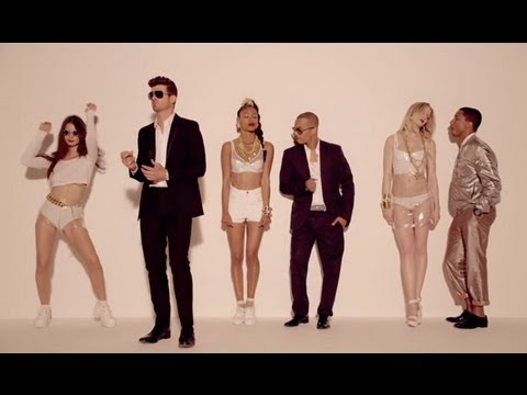 Robin Thicke Blurred Lines Girls