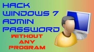 Hack Windows 7 Admin Password HD (English In