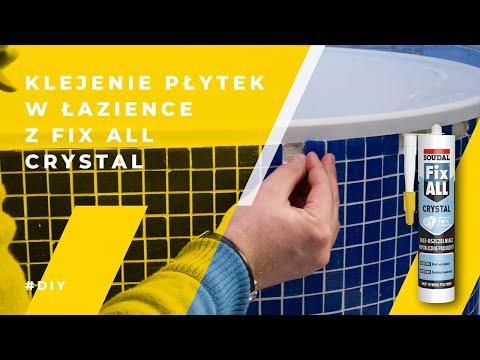 Soudal - klejenie płytek w łazience z Fix All Crystal