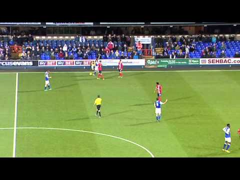 DJ Campbell Yellow Card v Ipswich Town, 3rd December 2013