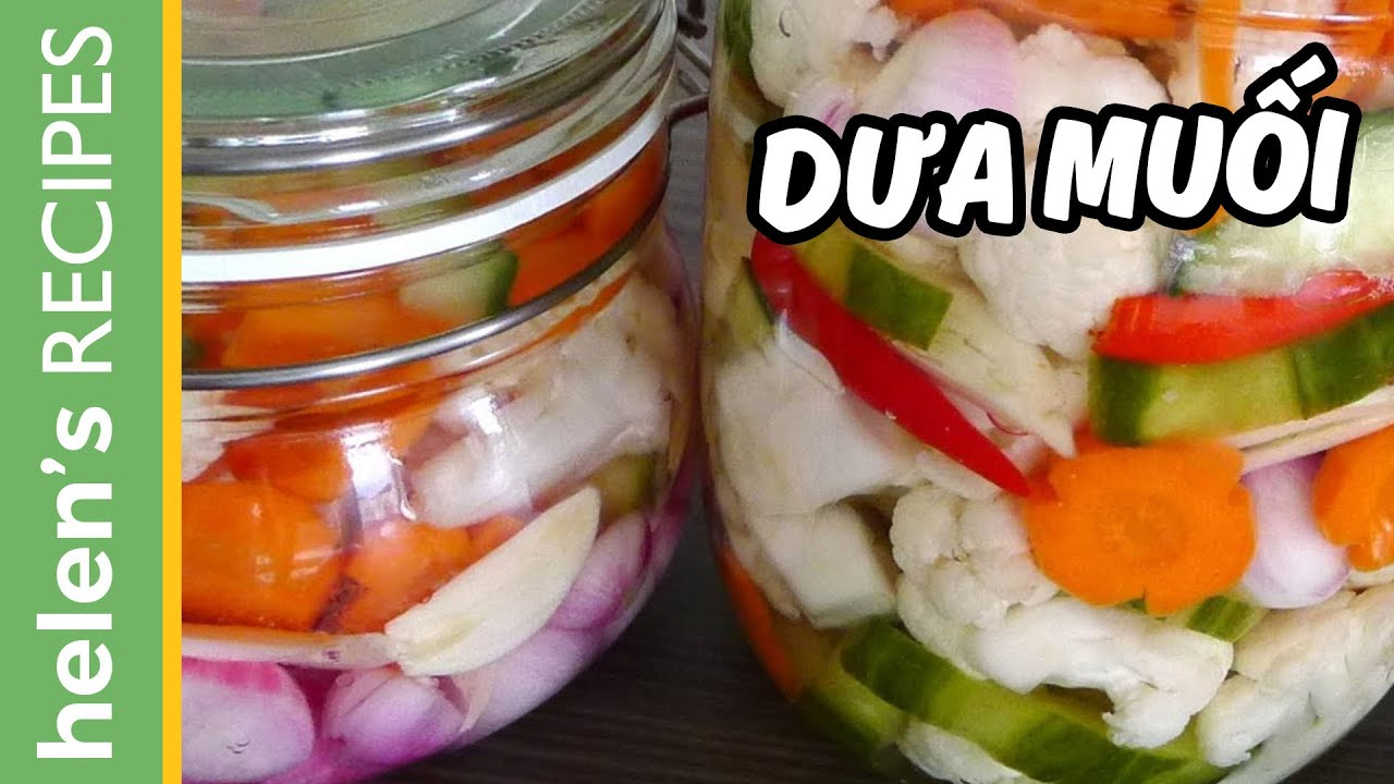 Vietnamese Pickled Vegetables - Dua chua / Do chua - YouTube