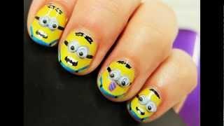 Uñas de Minions - fotos y tutorial | decoraciondeunas.es