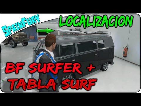 GTA 5 Online | Localizacion BF SURFER FURGONETA + TABLA DE SURF !! GRATIS !! Vehiculo raros GTA V