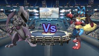SSBB Project M: Armored Mewtwo Vs Mega Lucario (Turbo Mode