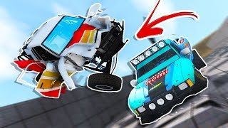 INSANE DOWNHILL DEMOLITION DERBY WITH TROPHY TRUCKS! - BeamNG Drive Downhill Obstacle Course
