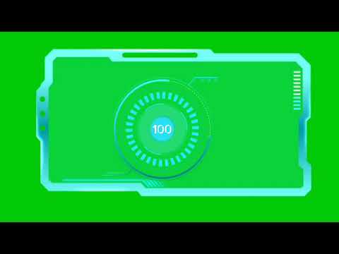Science Fiction HUD Effect Green Screen. Free to USE. NO COPYRIGHT(1)