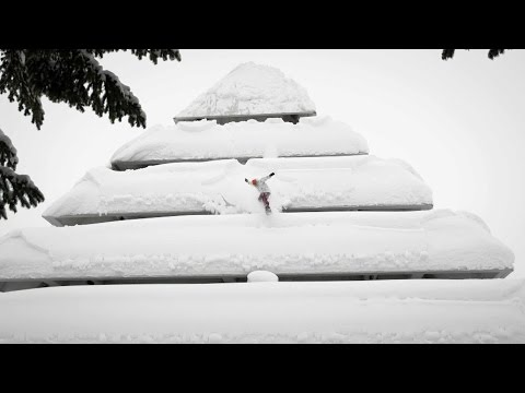 Snowboarding urban pillow lines in Japan - Perceptions - EP1