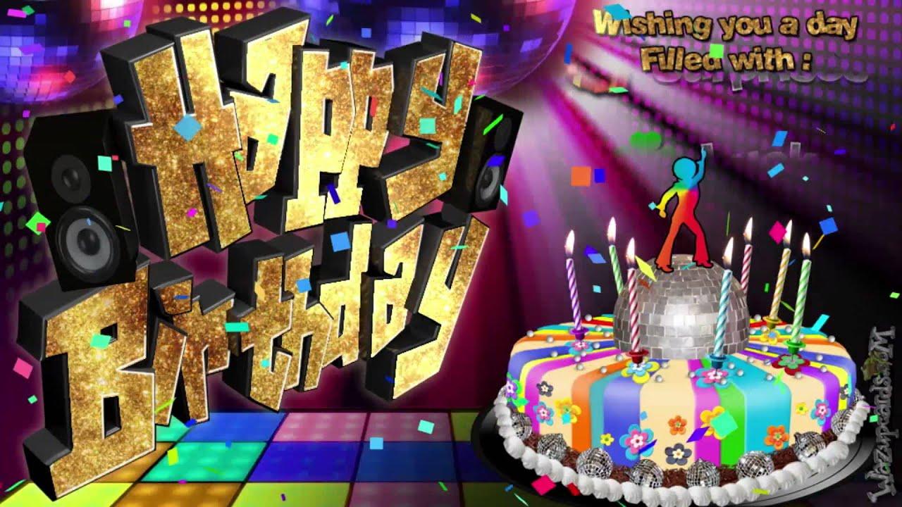 Cake Ideas Disco Birthday Party : Disco Party Cake - HAPPY BIRTHDAY - YouTube