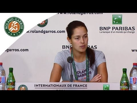 Press conference Ana Ivanovic 2014 French Open R3