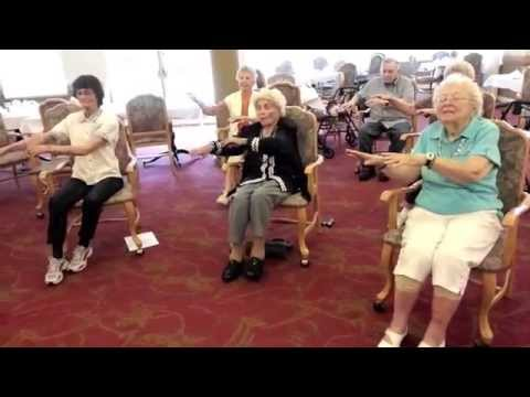 Chair exercises for seniors with music