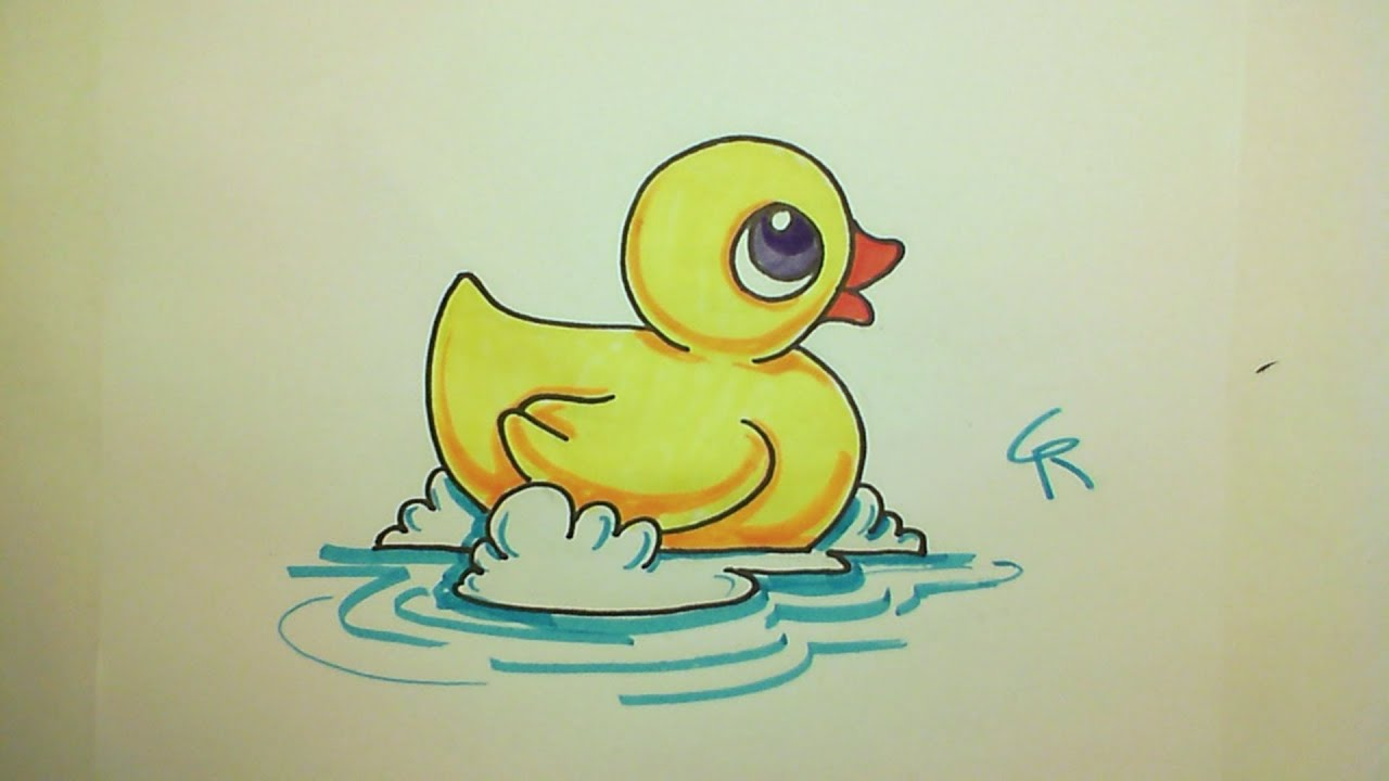 Learn How to Draw A Cute Rubber Ducky -- iCanHazDraw ...