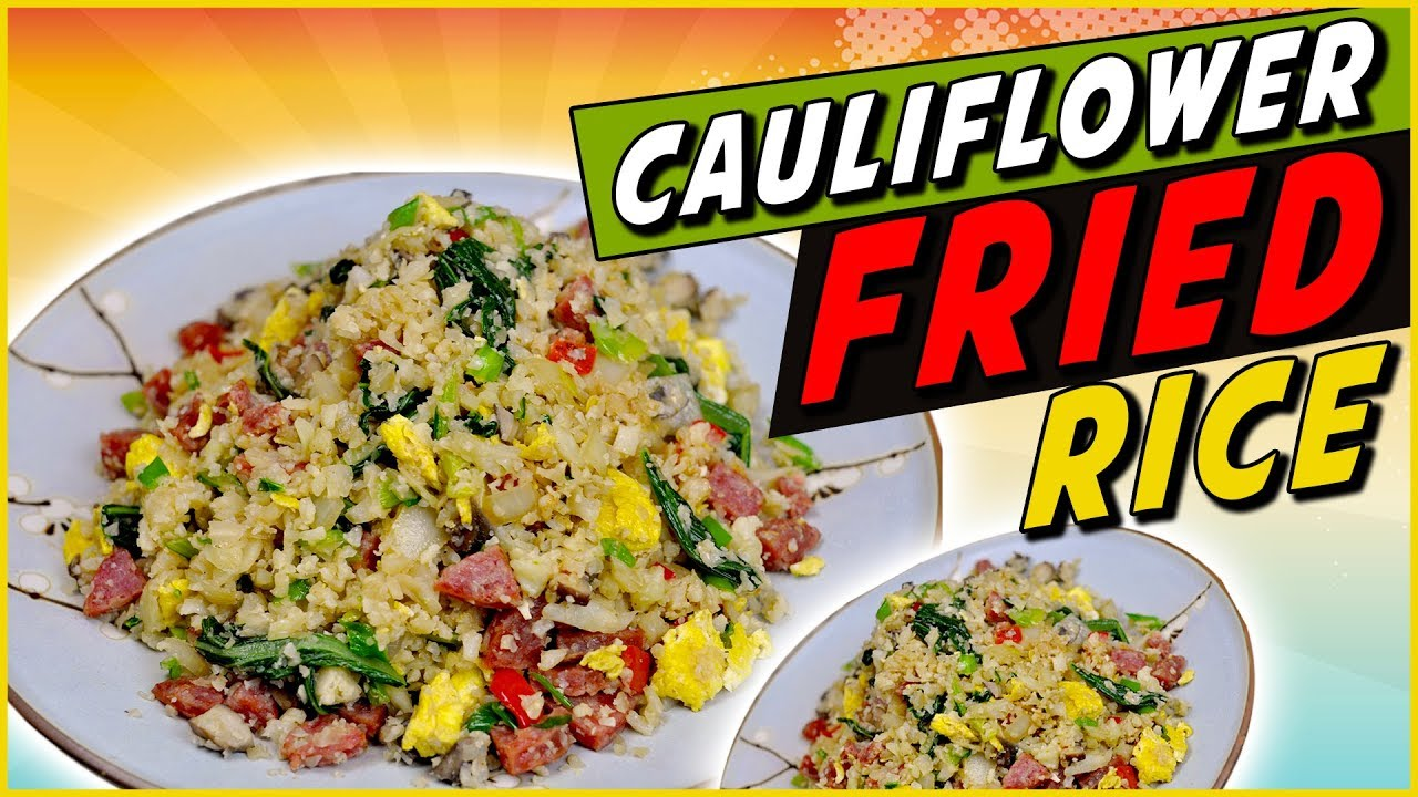 Mock Cauliflower Fried Rice Recipe - YouTube