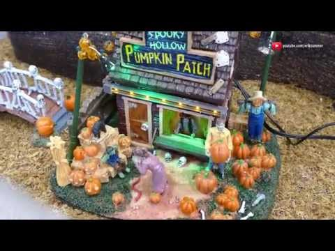Spooky Town Pumpkin Patch - Up Close! Halloween Decorations