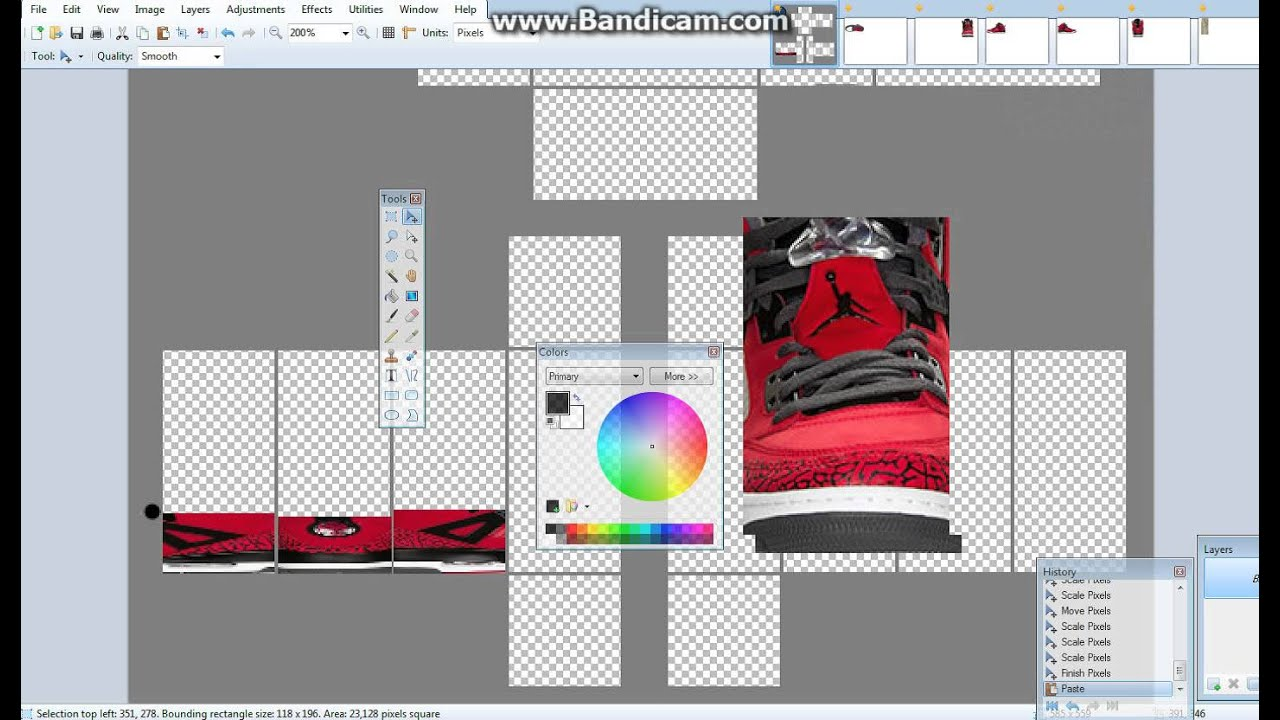 how to make shoes of roblox  part 2