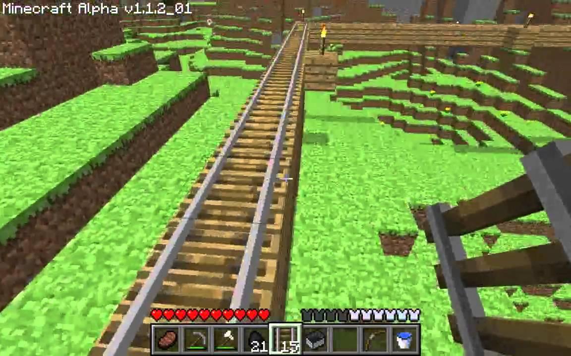 Minecraft Tutorials - 15 - How to Survive & Thrive (Minecarts & Rails ...