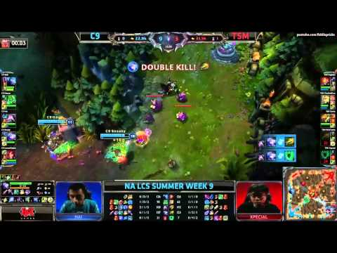 Cloud 9 vs TeamSoloMid TSM (LCS 2013 NA Summer Split W9 D3)