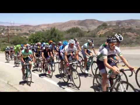 2013 ATOC Andy Schleck leading the peloton at mile 21
