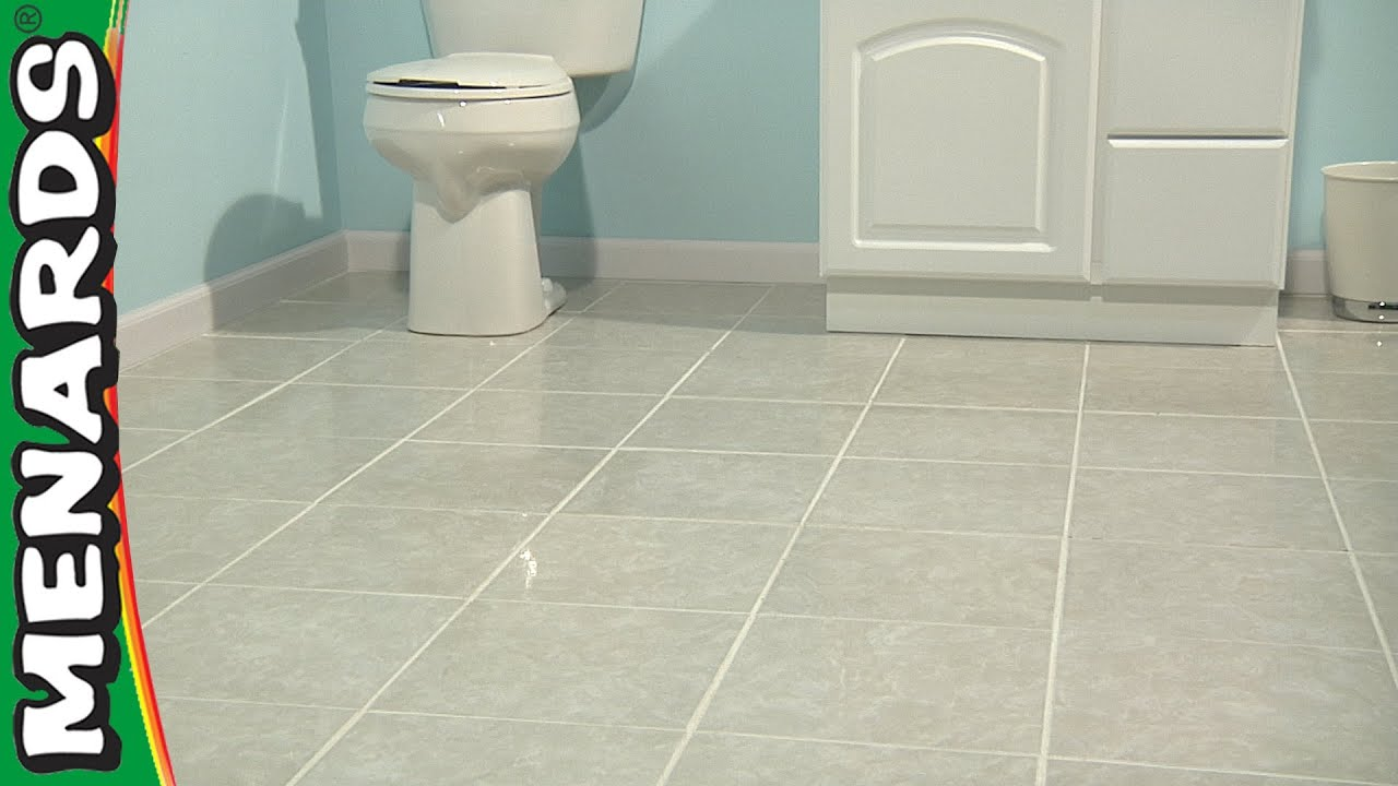 How to install ceramic tile floor in bathroom