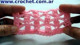 Punto Fantasía Nº48 En Tejido Crochet Tutorial Paso A