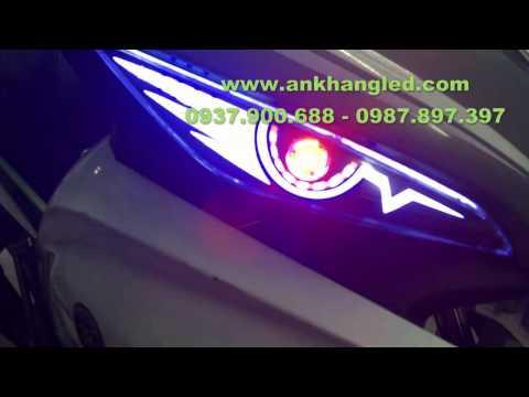 Exciter 135cc 2011~ 2014 đèn trước lắp Led Audi + Led O'Block _ AK Shop