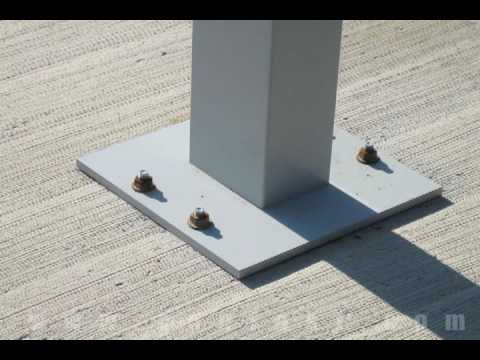 Attaching A Pedestal To Concrete Using Wedge Anchors Youtube