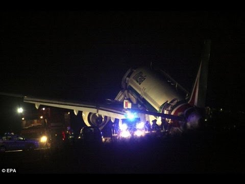 ( 30.9.2013)Crash Alitalia Airbus A320 Crash Lands in Rome