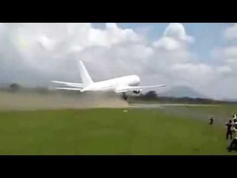 Boeing 767 pilot takes off on tiny runway after emergency landing in Tanzania