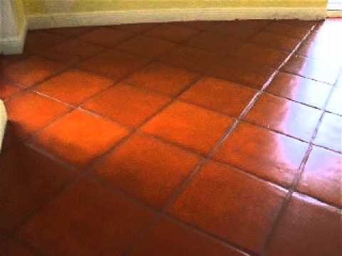 Removing stains from tile floors