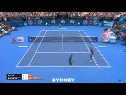 Florian MAYER (GER) vs Marinko MATOSEVIC (AUS) HIGHLIGHTS Apia International Sydney 2014