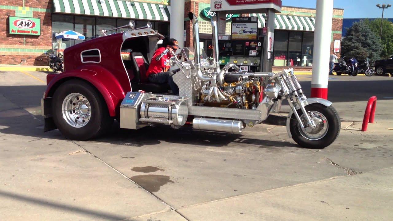 K W truck trike - YouTube