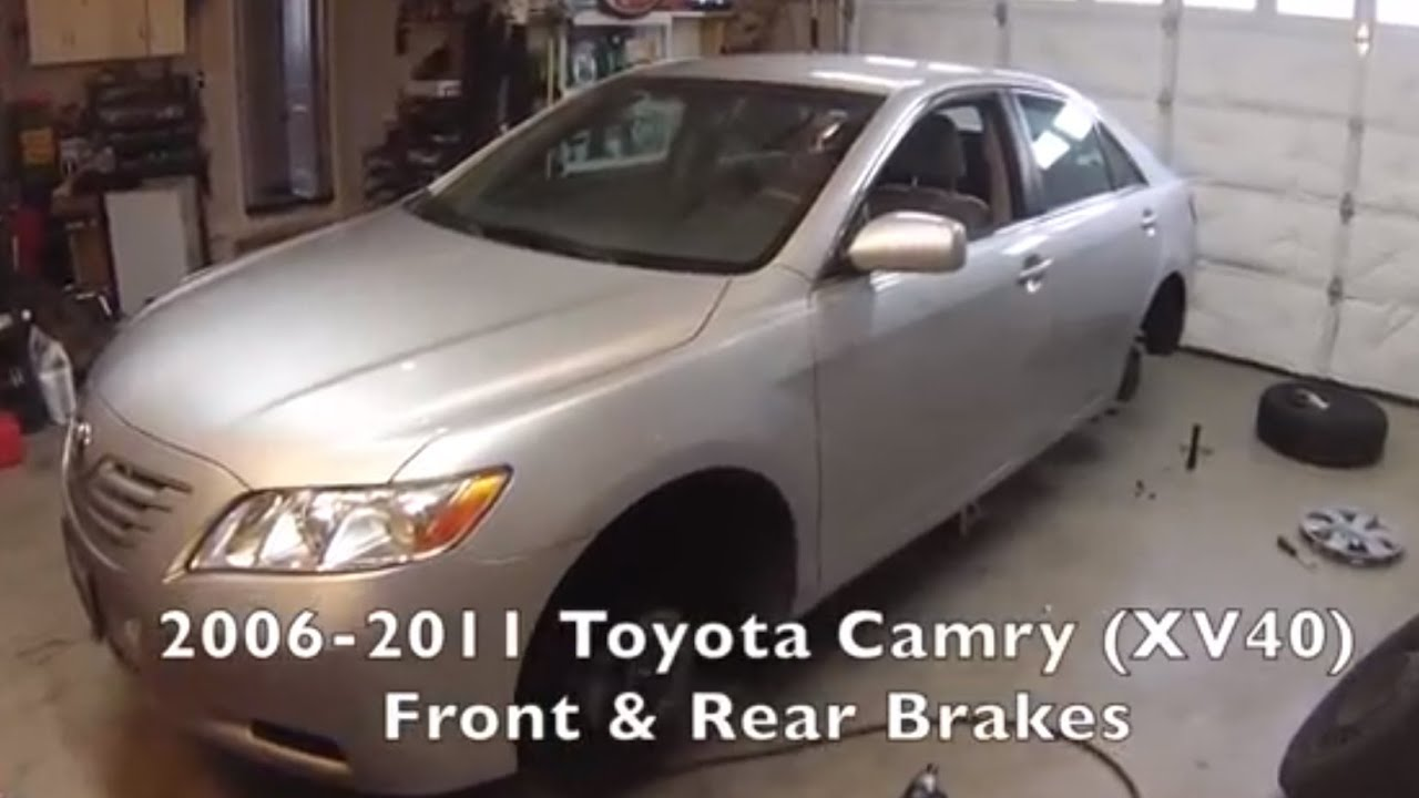 front rear brakes toyota camry 2006 2011 youtube. Black Bedroom Furniture Sets. Home Design Ideas