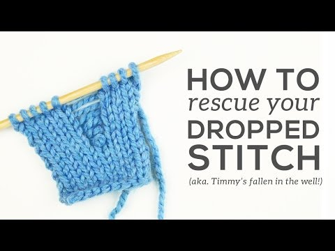 Knitting Essentials: Fixing Dropped Stitches