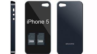 IPhone 5 Dual SIM Bluetooth Triple Dual SIM Adapter