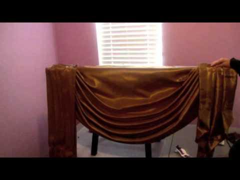 C mo hacer una cortina drapeada parte 3 3 c mo instalar - Como confeccionar cortinas ...