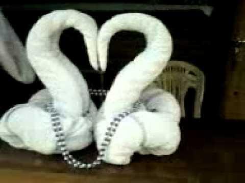 escultura em toalha