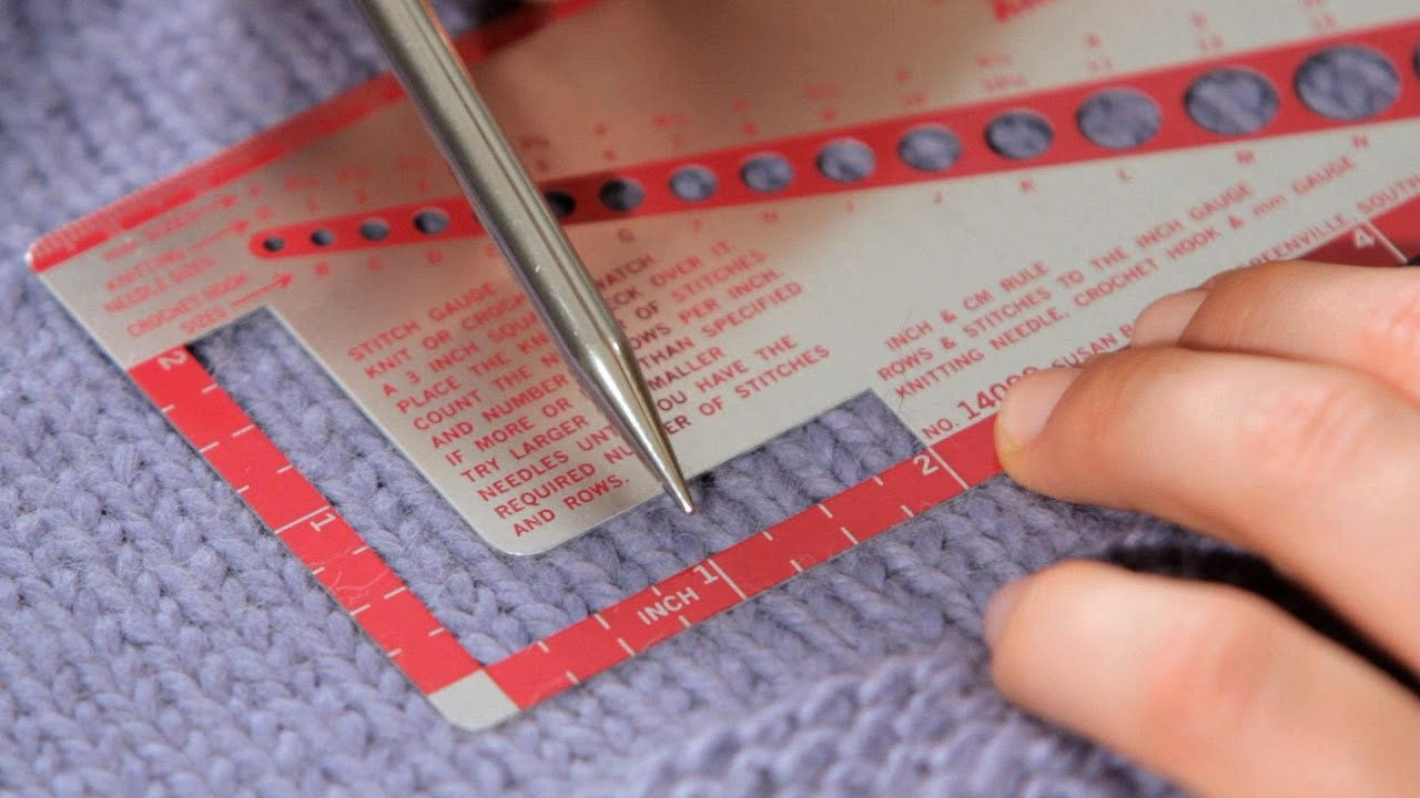 How to Measure Gauge Knitting - YouTube