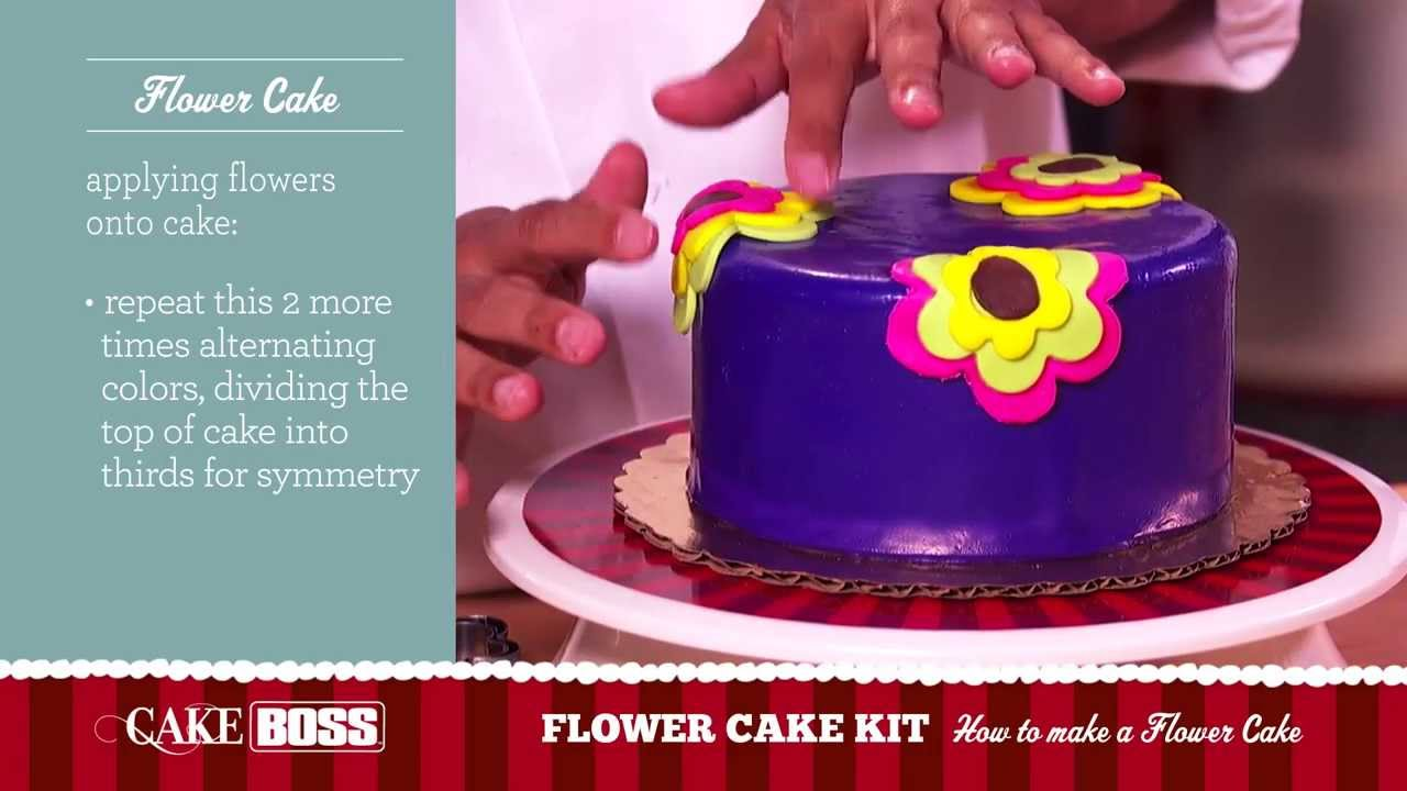How to Make a Flower Cake - Dessert Decorating Tips ...