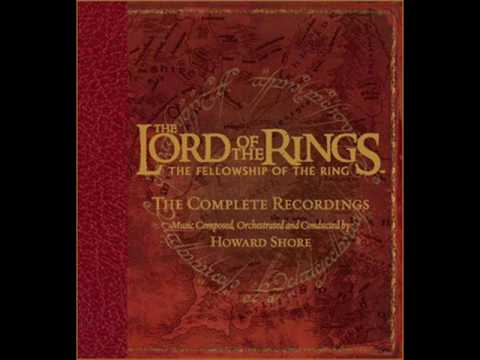 The Lord of the Rings: The Fellowship of the Ring Soundtrack - 13. The Bridge of Khazad-Dûm, This song displays the Fellowship fleeing Goblins throughout Moria. It shows them winding throughout the caverns seeking an escape. The Goblins are warded off by a nameless presence that buys the Fellowship time.