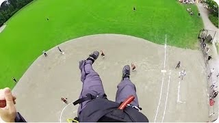 Paramotor CRASHES Baseball Game | Emergency Landing in the Outfield
