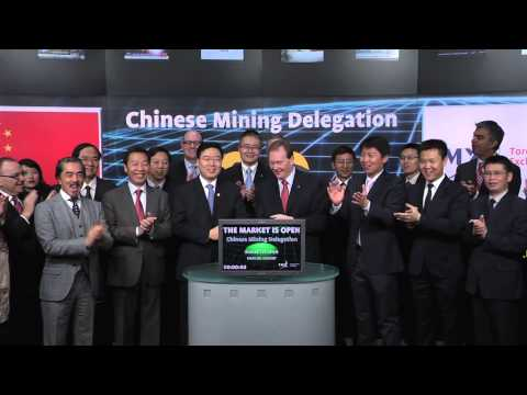 The Chinese Mining Delegation opens Toronto Stock Exchange, March 7, 2014.