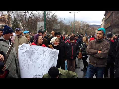 Protest and music infront of Presidential Building -Sarajevo